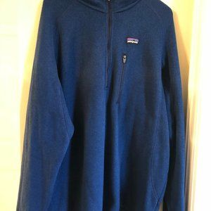 Patagonia Men's Quarter Zip Blue Pullover Size XL